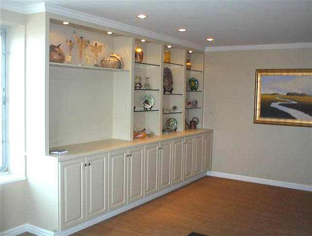 Built In Wall Unit Designs On Custom Cabinets Shelves Units